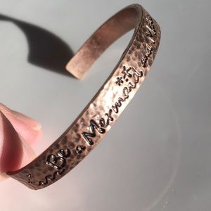 """""""Be a Mermaid and Make Waves"""" Rose Gold Cuff"""